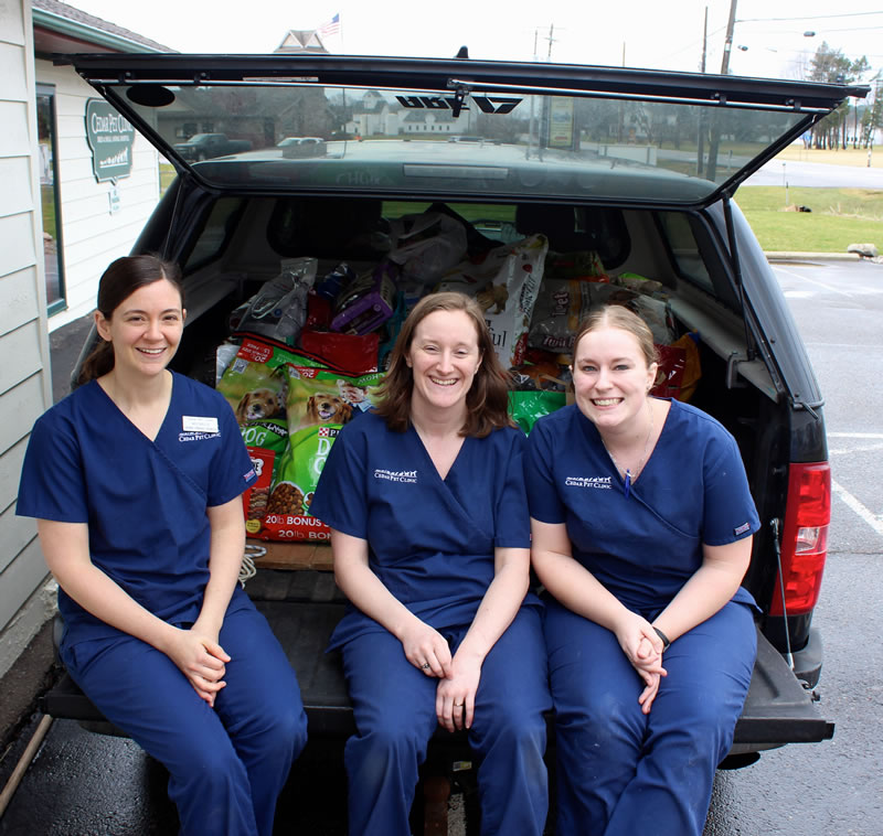 Clinic Staff Participating in the Valley Outreach Food Drive